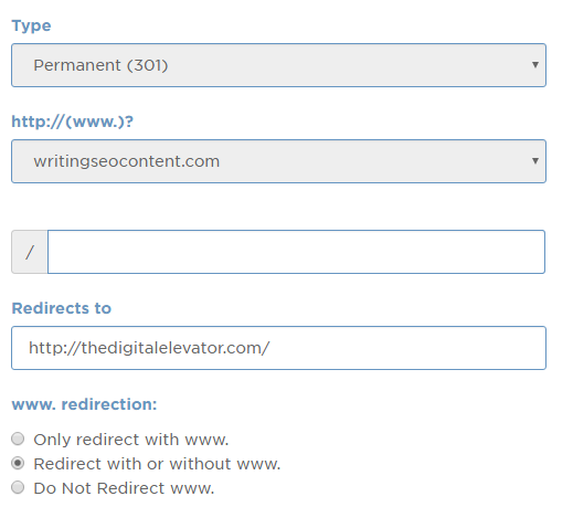cpanel redirects to new domain