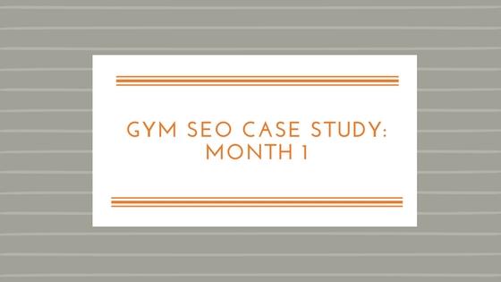 Gym SEO Case Study