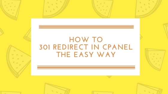 301 Redirect cPanel