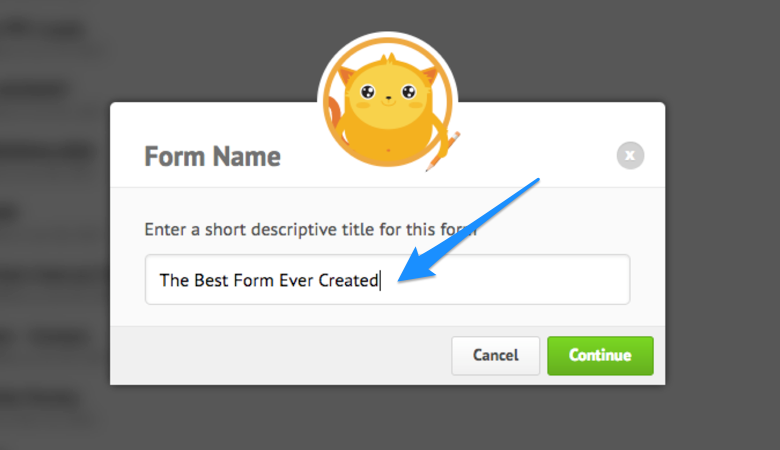 JotForm Name Your Form