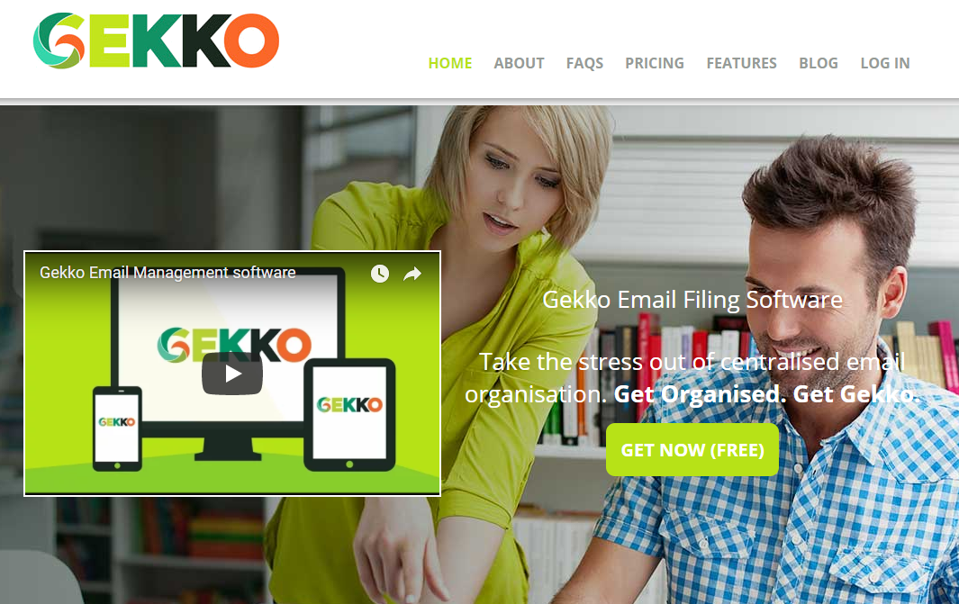 Gekko homepage video example