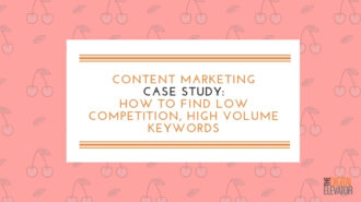 Low Competition High Volume Keywords